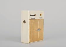 Retro radio. Vintage little  radio transistor box Royalty Free Stock Photos