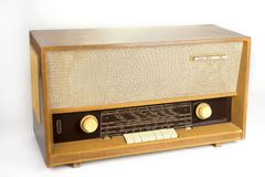 Retro- Radio von den Sechzigern hergestellt in Europa lizenzfreies stockbild