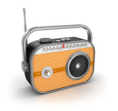 Retro radio on white background Royalty Free Stock Photos
