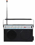 Retro radio on a white background. Isolated Royalty Free Stock Images