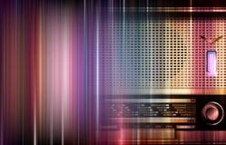 Retro radioabstrakt begrepp royaltyfri illustrationer