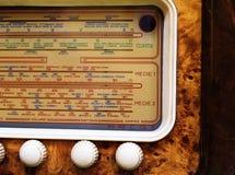 Retro radioclose-up Stock Fotografie