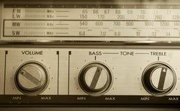 Retro- Radiodetail Lizenzfreie Stockfotos