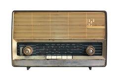 Retro radioontvanger van de laatste eeuw Stock Foto's
