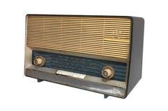 Retro radioontvanger van de laatste eeuw Royalty-vrije Stock Afbeeldingen