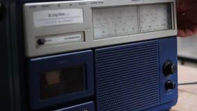 Retro Radiostationonderzoek stock video