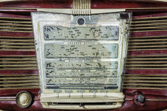 retro radiowego pokazu panelu inskrypcje w rosjaninie: długa fala, m Obraz Royalty Free