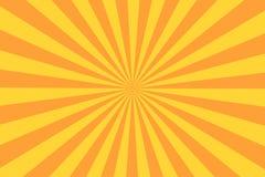 Retro raggio dello sprazzo di sole nello stile d'annata Fondo astratto del libro di fumetti illustrazione di stock
