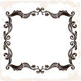 Retro- Rahmen der Vektorweinlese Dekorativer Hintergrund Stockbilder