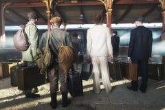 Retro railway station Stock Photos