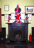 Retro railway station waiting room. Royalty Free Stock Photo