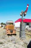 Retro railway traffic light  montana state Stock Image