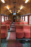 Retro railway wagon in Flam Royalty Free Stock Photo