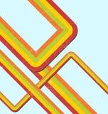 Retro rainbow. Retro background with rainbow lines vector illustration