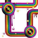 Retro rainbow Stock Image