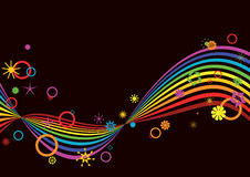 Retro rainbow background Royalty Free Stock Images