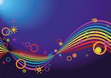Retro rainbow background. Retro rainbow on blue background Stock Images