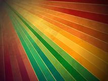 Retro rainbow grunge starburst Stock Image