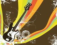Retro Rainbow Guitar. Background Vector Illustration Stock Photos