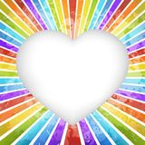 Retro rainbow heart background Royalty Free Stock Photo