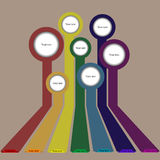 Retro rainbow infographics background Royalty Free Stock Photos