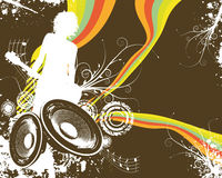 Free Retro Rainbow Speaker Band Stock Photo - 5778570