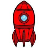 Retro raket royalty-vrije illustratie