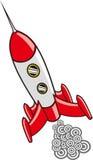 Retro raketontwerp Royalty-vrije Stock Afbeelding