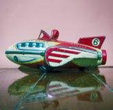 Retro rakiety cyny zabawki zakończenie up zdjęcie royalty free
