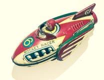 Retro rakiety cyny zabawki zakończenie up obrazy royalty free