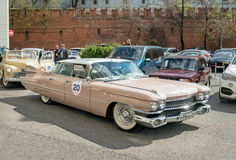 Retro rally in Moscow. Cadillac Series 62. Royalty Free Stock Photo