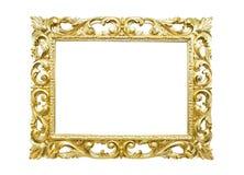 Retro ram för gammal guld Royaltyfri Foto