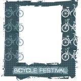 Retro ram med den stilfulla cykeln Royaltyfri Bild