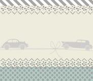Retro ram med gullig bakgrund Arkivbild