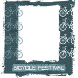 Retro rama z eleganckim bicyklem Obraz Royalty Free