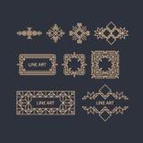 Retro rama z miejscem dla teksta Rocznik dekoraci element Obraz Royalty Free