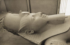 Retro Ramesses II, Memphis, Egypt Royalty Free Stock Photos
