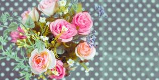 Retro - ramo del vintage de flores coloridas fotografía de archivo