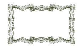 retro ramowy kwiecisty dekoracyjny royalty ilustracja