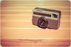 Retro rangefinder camera. 126 mm Stock Photos