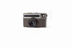 Retro rangefinder camera. On white background Royalty Free Stock Photography