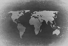 Retro rastrerad världskarta arkivfoton