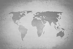 Retro rastrerad världskarta arkivbild