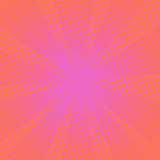 Retro rays comic pink background. Gradient halftone pop art style Stock Photos
