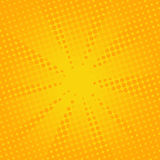 Retro rays comic yellow background. Gradient halftone pop art style Royalty Free Stock Images