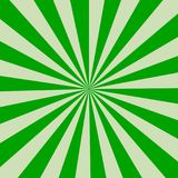 Retro rays green background. Retro style Royalty Free Stock Photography