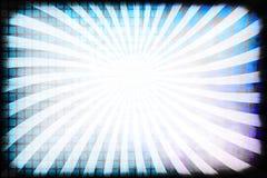 Retro Rays Grunge Border Stock Images