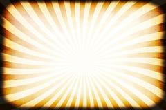Retro Rays Grunge Border Stock Image