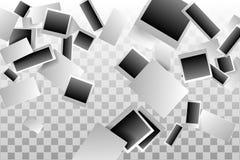 Retro- realistischer Vektorfotorahmen gesetzt auf transparenten Hintergrund Schablonenfotodesign Lizenzfreie Stockfotografie