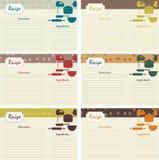Retro receptenkaarten Royalty-vrije Stock Foto's